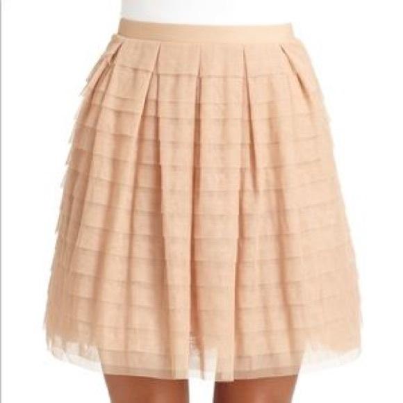13b55007a BCBGMaxAzria Dresses & Skirts - BCBGMaxazria Bare Pink Alegra Tulle Skirt